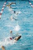 Raza de la nadada Fotografía de archivo libre de regalías