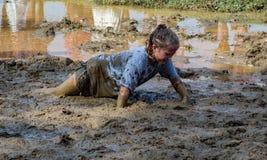 """raza de la sacudida de Pollywog del 21o †anual de Marine Mud Run """" Imágenes de archivo libres de regalías"""