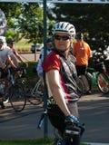 Raza de los ciclistas Fotos de archivo libres de regalías