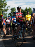 Raza de los ciclistas Imagenes de archivo