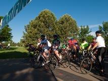 Raza de los ciclistas Foto de archivo libre de regalías