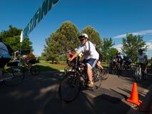 Raza de los ciclistas Imagen de archivo libre de regalías