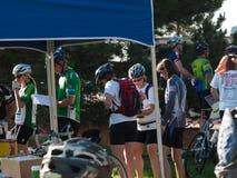 Raza de los ciclistas Fotografía de archivo libre de regalías