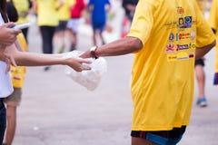 Raza de los corredores de maratón en 2015 Foto de archivo libre de regalías