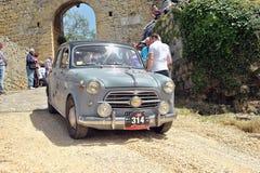 Raza de Mille Miglia, fíat 1100 Foto de archivo libre de regalías