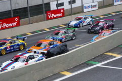 Raza de Porsche de la f?rmula Imagen de archivo