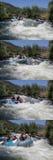Raza del agua de Whte Imagenes de archivo
