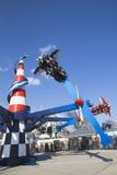 Raza del aire en Coney Island Luna Park Imagenes de archivo