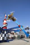 Raza del aire en Coney Island Luna Park Imagen de archivo libre de regalías