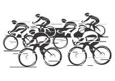 Raza del ciclo de Peleton stock de ilustración