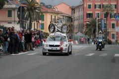 Raza del ciclo: Milano Sanremo 2011 - buque insignia Fotografía de archivo libre de regalías