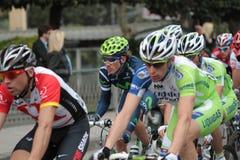 Raza del ciclo: Milano Sanremo 2011 - zoom Imágenes de archivo libres de regalías