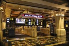 Raza del hotel de Las Vegas Excalibur y sección de deportes Imagen de archivo libre de regalías