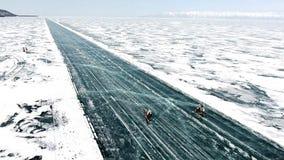 Raza del invierno de Baikal almacen de metraje de vídeo