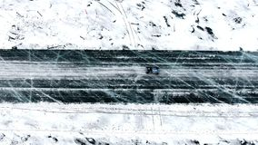 Raza del invierno de Baikal almacen de video