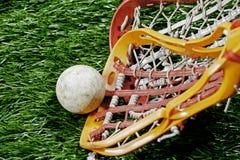 Raza del lacrosse para la bola Imágenes de archivo libres de regalías