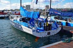 Raza 2017 del océano de Team Clean Seas The Volvo Imágenes de archivo libres de regalías