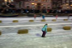 Raza del patinaje de hielo de Keizer Foto de archivo