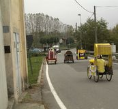 Raza de la caja, Azeglio Italia Fotos de archivo libres de regalías