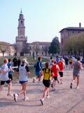 Raza en Vigevano, Italia del Mitad-Maratón Fotografía de archivo