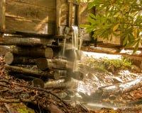 Raza histórica del agua del molino del cable en la ensenada de Cades foto de archivo libre de regalías