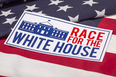 Raza a la elección presidencial de la Casa Blanca Fotografía de archivo