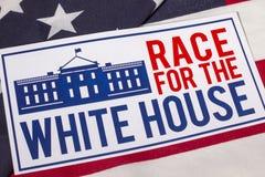 Raza a la elección presidencial de la Casa Blanca Fotografía de archivo libre de regalías