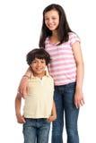 Raza mixta Brother y hermana. Imagenes de archivo