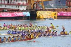Razas de barco de dragón de Hong-Kong Int'l 2010 Imagenes de archivo