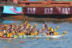 Razas de barco de dragón de Hong-Kong Int'l 2010 Fotografía de archivo libre de regalías