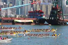 Razas de barco de dragón de Hong-Kong Int'l 2010 Foto de archivo libre de regalías