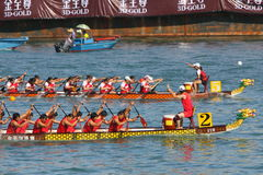 Razas de barco de dragón de Hong-Kong Int'l 2010 Fotos de archivo