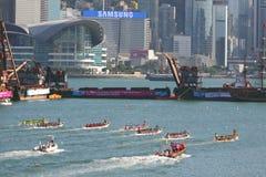 Razas de barco de dragón de Hong-Kong Int'l 2010 Fotos de archivo libres de regalías