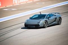 Razas del entrenamiento de Lamborghini en el autodrom Fotografía de archivo libre de regalías