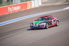 Razas del entrenamiento del coche de alta velocidad Foto de archivo libre de regalías