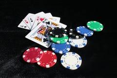razem w pokera. Zdjęcia Royalty Free