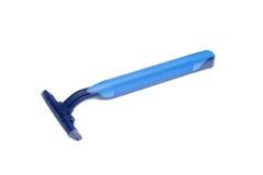 Razor. Blue razor isolated on white background Royalty Free Stock Image