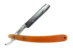 Razor. Antique razor on white background Royalty Free Stock Image