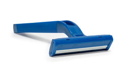 Razor. Blue on a white background isolated Royalty Free Stock Photography