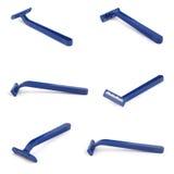 Razor. Blue razor isolate on white background stock image