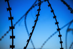 The Razor Barbed Wire protection. Stock Images
