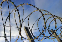 Razor Barbed Wire Security Stock Photography