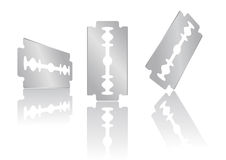 Razor blade. Vector illustration of a razor blade Royalty Free Stock Photo