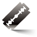 Razor blade. Vector illustration of a razor blade Stock Photography