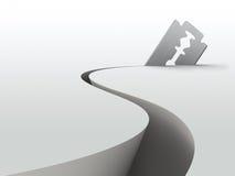 Razor blade. In cutting action (3D illustration royalty free illustration
