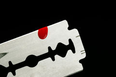 Razor Blade with Blood Stock Photos