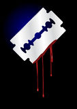 Razor Blade with Blood - vector Stock Photo