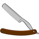 Razor blade. Cartoon illustration showing an old style barber razor blade vector illustration