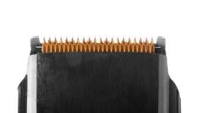 Razor blade macro isolated on white. Royalty Free Stock Image