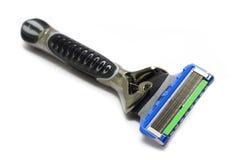 Razor blade. Shaver razor blade, isolated on white Royalty Free Stock Photo
